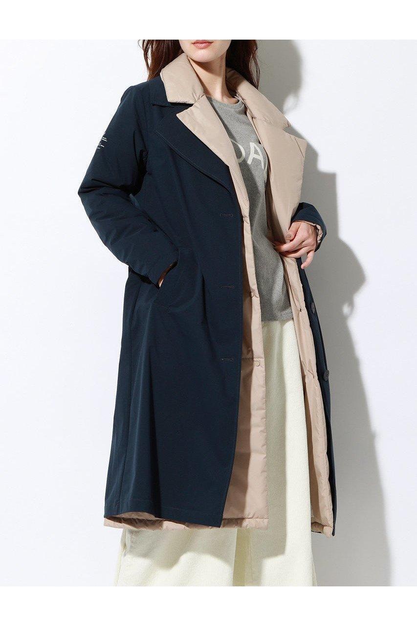 2枚のコートをレイヤードしたサステナブルトレンチ 人気、トレンドファッション・服の通販 founy(ファニー) 【エコアルフ/ECOALF】 ファッショントレンド Fashion trends ブランド Brand ファッション Fashion レディース WOMEN アウター Coat Outerwear コート Coats スタイリッシュ トレンチ ロング |ID:prp329100000052328