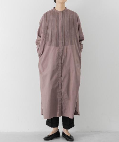 ベーシックな雰囲気ながらも、胸元のピンタックがスタイリングに華やかさをプラスするシャツワンピース レディースファッション・服の通販 founy(ファニー) 【かぐれ/kagure】 ファッショントレンド Fashion trends ブランド Brand ファッション Fashion レディース WOMEN ワンピース Dress シャツワンピース Shirt Dresses インナー スタンダード タートル ベーシック |ID:prp329100000388234
