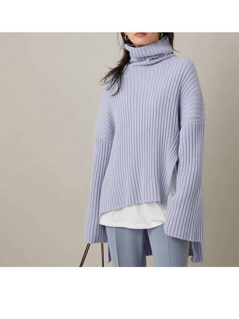 《2枚セット》《取り外し・単品使い可能》タートルネックのチュニックニット×ロングTシャツがセットになった、着るだけでキマる優秀ニット おすすめで人気のファッション通販商品 インテリア・家具・キッズファッション・メンズファッション・レディースファッション・服の通販 founy(ファニー) 【アダム エ ロペ/Adam et Rope】 トレンドファッション・スタイル  Fashion trends ブランド Brand ファッション Fashion レディース WOMEN トップス Tops Tshirt ニット Knit Tops ロング / Tシャツ T-Shirts アシンメトリー カットソー ストール スリット タートル タートルネック チュニック ベーシック ポケット ロング |ID:prp329100000914136