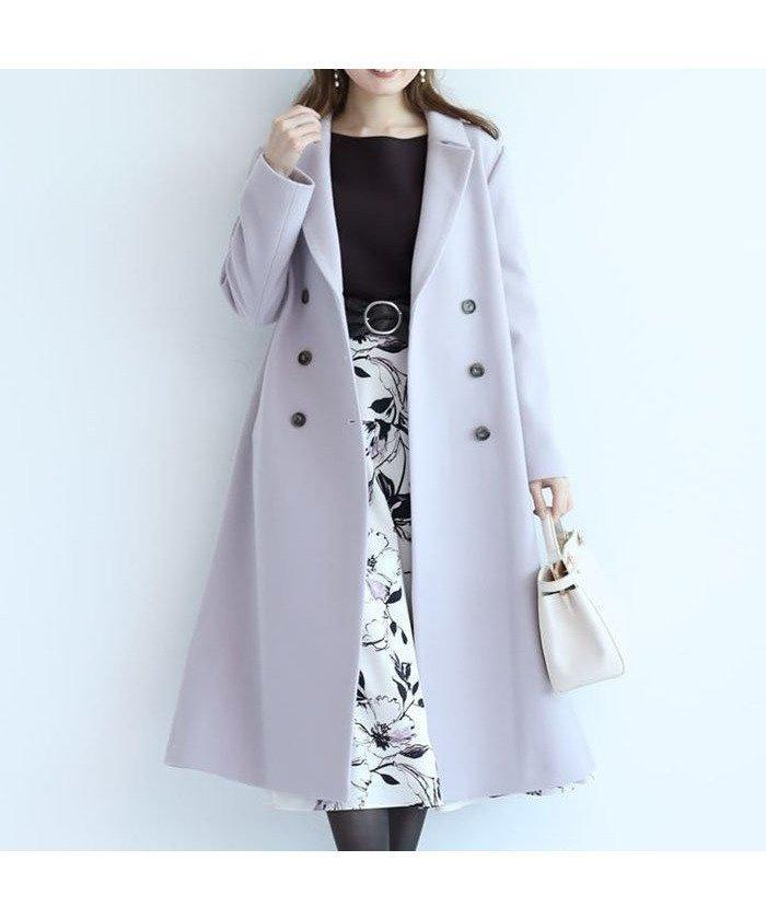 ベルトを飾ったバックスタイルが印象的なロングコート レディースファッション・服の通販 founy(ファニー) 【アプワイザーリッシェ/Apuweiser-riche】 トレンドファッション・スタイル  Fashion trends ブランド Brand ファッション Fashion レディース WOMEN アウター Coat Outerwear コート Coats バッグ Bag ロング 冬 Winter  ID:prp329100000369734