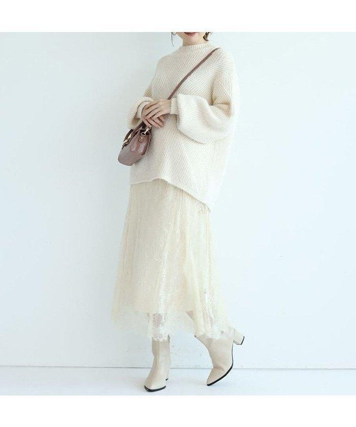 今季らしくフェミニンなワントーンコーデを叶えてくれるニットプルオーバーとレーススカートの2点セットアップ レディースファッション・服の通販 founy(ファニー) 【アプワイザーリッシェ/Apuweiser-riche】 トレンドファッション・スタイル  Fashion trends ブランド Brand ファッション Fashion レディース WOMEN セットアップ Setup トップス Tops スカート Skirt スリーブ セットアップ バイアス フェミニン レース 今季  ID:prp329100000872543