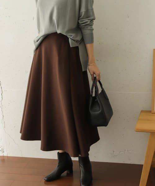 ウォーム感のある起毛のツイル生地を使用したスカート レディースファッション・服の通販 founy(ファニー) 【アーバンリサーチ ドアーズ/URBAN RESEARCH DOORS】 トレンドファッション・スタイル  Fashion trends ブランド Brand ファッション Fashion レディース WOMEN スカート Skirt Aライン/フレアスカート Flared A-Line Skirts ウォーム サテン ショート タイツ ツイル フラット フレア フロント ポケット ミドル ワイド 冬 Winter  ID:prp329100000884783