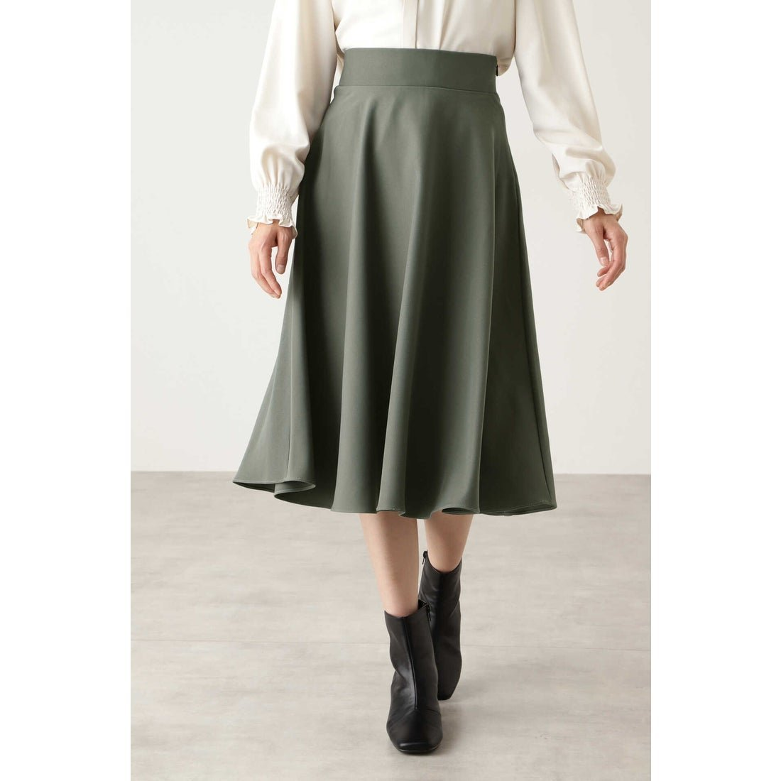 大人っぽいムードを与えてくれるスモーキーカラーのフレアスカート レディースファッション・服の通販 founy(ファニー) 【エヌ ナチュラルビューティーベーシック/N.Natural Beauty basic】 トレンドファッション・スタイル  Fashion trends ブランド Brand ファッション Fashion レディースファッション WOMEN スカート Skirt Aライン/フレアスカート Flared A-Line Skirts フレア ベーシック ミモレ  ID:prp329100000933341