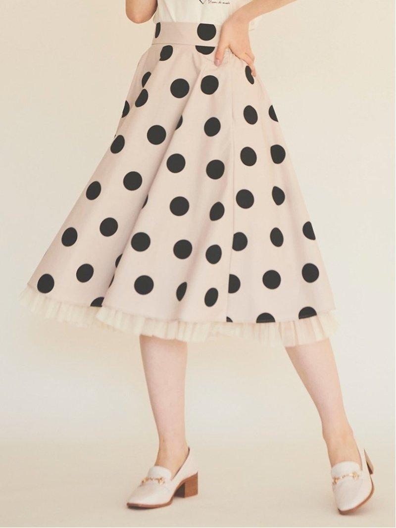 裾からチュールがのぞく、ドットとギンガムの1枚で決まる華やかなスカート おすすめで人気、流行・トレンド、ファッション通販商品 インテリア・家具・キッズファッション・メンズファッション・レディースファッション・服の通販 founy(ファニー) 【トランテアン ソン ドゥ モード/31 Sons de mode】 トレンドファッション・スタイル  Fashion trends ブランド Brand ファッション Fashion レディースファッション WOMEN スカート Skirt Aライン/フレアスカート Flared A-Line Skirts 2021年 2021 2021 春夏 S/S SS Spring/Summer 2021 S/S 春夏 SS Spring/Summer ギャザー ギンガム チュール ドット フレア |ID:prp329100001006965