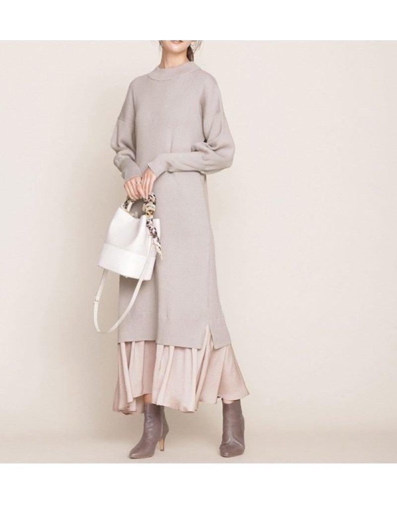 異素材を組み合わせたレイヤード風のデザインが1枚でサマになるマキシワンピース おすすめで人気、流行・トレンド、ファッション通販商品 インテリア・家具・キッズファッション・メンズファッション・レディースファッション・服の通販 founy(ファニー) 【ナノ ユニバース/nano universe】 トレンドファッション・スタイル  Fashion trends ブランド Brand ファッション Fashion レディースファッション WOMEN ワンピース Dress マキシワンピース Maxi Dress ウォッシャブル クラシカル コンビ サテン トレンド マキシ リブニット  ID:prp329100000576321