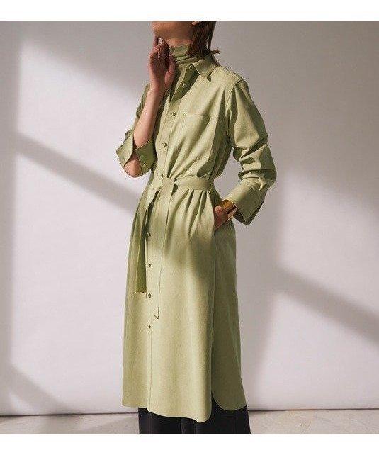 上質なフェイクスエードを使用した マルチに着回せるシャツドレス レディースファッション・服の通販 founy(ファニー) 【ベイジ,/BEIGE,】 トレンドファッション・スタイル  Fashion trends ブランド Brand ファッション Fashion レディースファッション WOMEN ワンピース Dress 春 Spring 今季 軽量 スリット ドレス ハイネック フェイクスエード ラウンド 2021年 2021 S/S 春夏 SS Spring/Summer 2021 春夏 S/S SS Spring/Summer 2021 送料無料 Free Shipping |ID:prp329100000861129