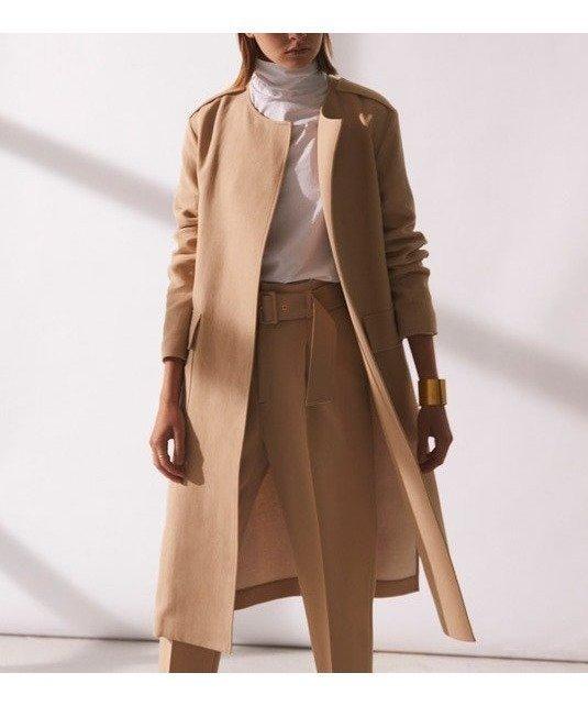 シンプルながら1枚でサマになる、他には無い素材感がポイントの春コート レディースファッション・服の通販 founy(ファニー) 【ベイジ,/BEIGE,】 トレンドファッション・スタイル  Fashion trends ブランド Brand ファッション Fashion レディースファッション WOMEN アウター Coat Outerwear コート Coats ジャケット Jackets 送料無料 Free Shipping 2021年 2021 2021 春夏 S/S SS Spring/Summer 2021 S/S 春夏 SS Spring/Summer シンプル ジャケット 春 Spring |ID:prp329100000860994