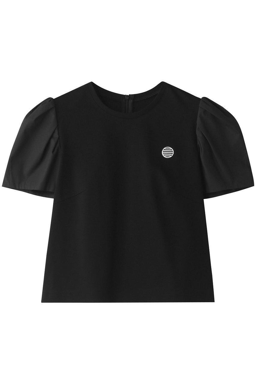 袖コンデザインがポイントのTシャツ  レディースファッション・服の通販 founy(ファニー) 【ボーダーズ アット バルコニー/BORDERS at BALCONY】 トレンドファッション・スタイル  Fashion trends ブランド Brand ファッション Fashion レディースファッション WOMEN トップス Tops Tshirt シャツ/ブラウス Shirts Blouses ロング / Tシャツ T-Shirts カットソー Cut and Sewn 2021年 2021 2021 春夏 S/S SS Spring/Summer 2021 S/S 春夏 SS Spring/Summer コンパクト ショート スリーブ ボトム ボーダー 春 Spring |ID:prp329100001019206