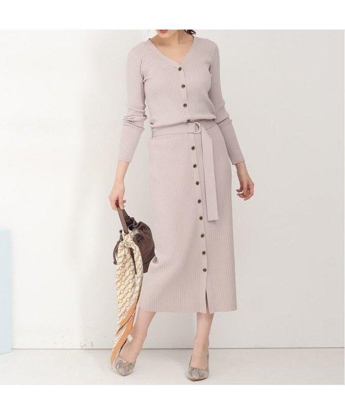 タイトなシルエットが女性らしさを引き立てるニットワンピース レディースファッション・服の通販 founy(ファニー) 【マイストラーダ/Mystrada】 トレンドファッション・スタイル  Fashion trends ブランド Brand ファッション Fashion レディースファッション WOMEN ワンピース Dress ニットワンピース Knit Dresses シューズ スマート フロント |ID:prp329100001039795