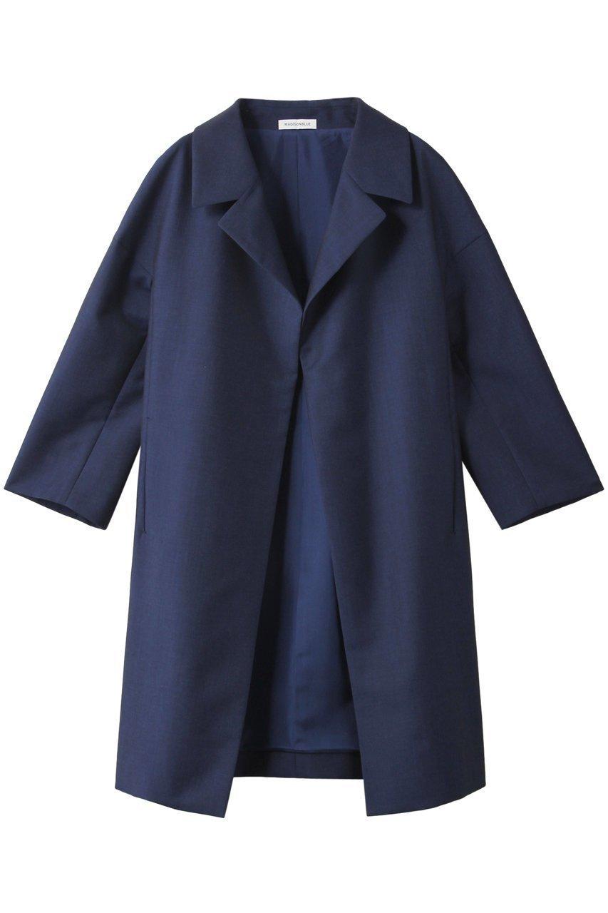 潔いシンプルさが素材の魅力をアップ  レディースファッション・服の通販 founy(ファニー) 【マディソンブルー/MADISONBLUE】 トレンドファッション・スタイル  Fashion trends ブランド Brand ファッション Fashion レディースファッション WOMEN アウター Coat Outerwear コート Coats シンプル フラット モヘア ロング |ID:prp329100000016897