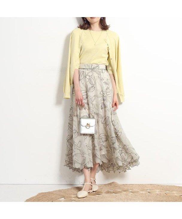 華やかな雰囲気をまとえる、大人の装いに相応しい総柄のロングスカート レディースファッション・服の通販 founy(ファニー) 【アプワイザーリッシェ/Apuweiser-riche】 トレンドファッション・スタイル  Fashion trends ブランド Brand ファッション Fashion レディースファッション WOMEN スカート Skirt Aライン/フレアスカート Flared A-Line Skirts ロングスカート Long Skirt エアリー ギャザー シンプル フレア ロング |ID:prp329100001091733