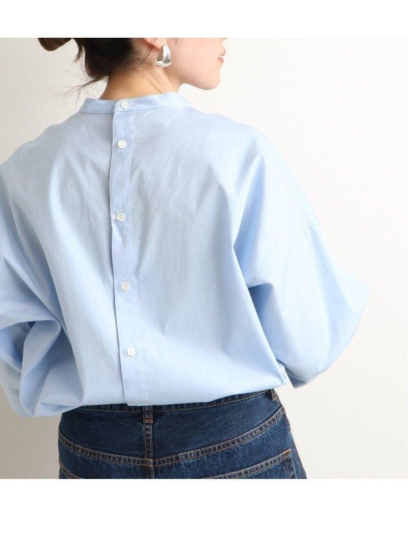 バックボタンのバンドカラーシャツ レディースファッション・服の通販 founy(ファニー) 【イエナ/IENA】 トレンドファッション・スタイル  Fashion trends ブランド Brand ファッション Fashion レディースファッション WOMEN トップス カットソー Tops Tshirt シャツ/ブラウス Shirts Blouses バッグ Bag NEW・新作・新着・新入荷 New Arrivals 2021年 2021 2021 春夏 S/S SS Spring/Summer 2021 S/S 春夏 SS Spring/Summer コンパクト ブロード 再入荷 Restock/Back in Stock/Re Arrival 長袖 |ID:prp329100001126314