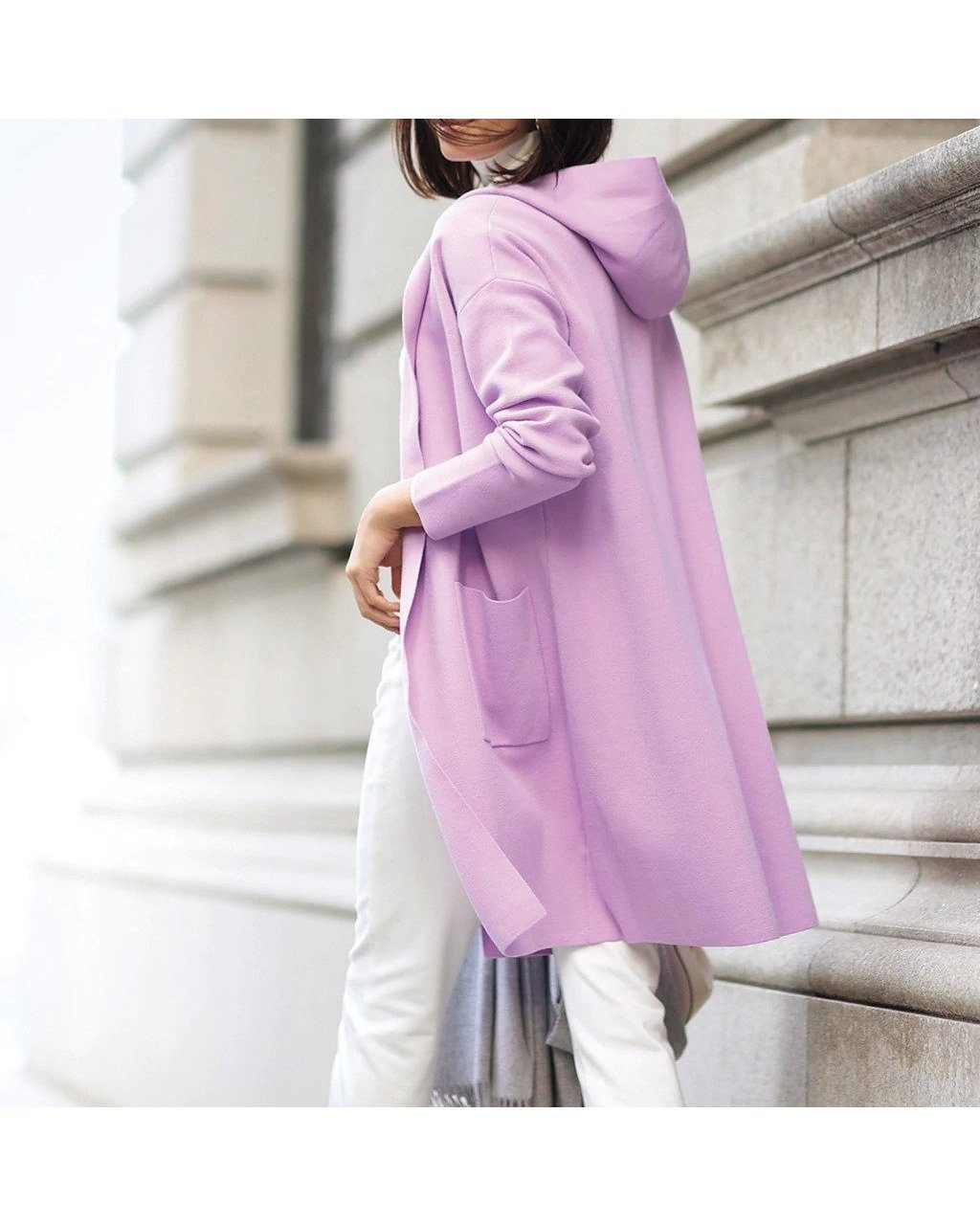 春の始まりは「大人かわいく」あったか軽やかなミラノリブ・着流しフードコート おすすめで人気、流行・トレンド、ファッション通販商品 インテリア・家具・キッズファッション・メンズファッション・レディースファッション・服の通販 founy(ファニー) 【ドゥクラッセ/DoCLASSE】 トレンドファッション・スタイル  Fashion trends ブランド Brand ファッション Fashion レディースファッション WOMEN アウター Coat Outerwear コート Coats ミドル ミラノリブ 春 Spring  ID:prp329100001133219
