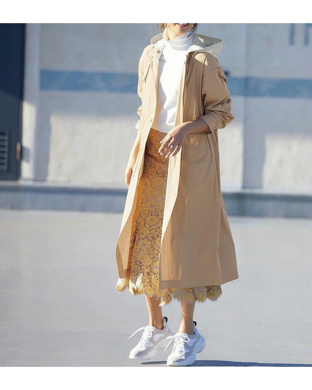 パーカーとノーカラーで着回し力抜群の二重織メモリー・2WAYフードコート おすすめで人気、流行・トレンド、ファッション通販商品 インテリア・家具・キッズファッション・メンズファッション・レディースファッション・服の通販 founy(ファニー) 【ドゥクラッセ/DoCLASSE】 トレンドファッション・スタイル  Fashion trends ブランド Brand ファッション Fashion レディースファッション WOMEN アウター Coat Outerwear コート Coats シンプル パーカー 人気  ID:prp329100001143039