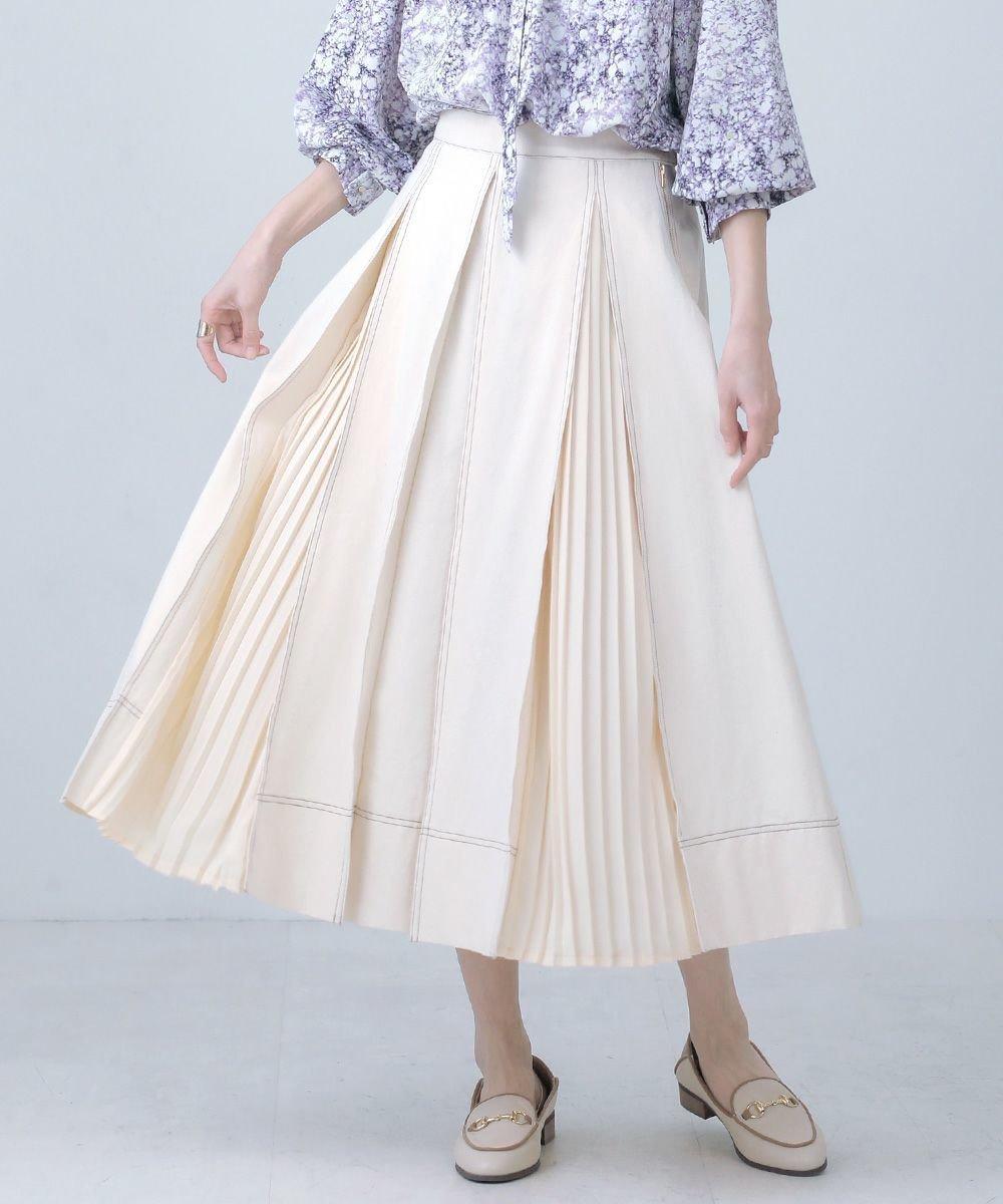 1枚着るだけで着映えするスカート レディースファッション・服の通販 founy(ファニー) 【ブージュルード/Bou Jeloud】 トレンドファッション・スタイル  Fashion trends ブランド Brand ファッション Fashion レディースファッション WOMEN スカート Skirt デニムスカート Denim Skirts コンパクト スウェット デニム プチプライス・低価格 Affordable プリーツ |ID:prp329100001124937