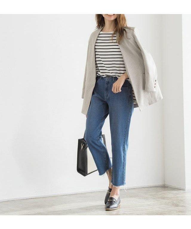 デイリーに穿きたくなる カットオフデニム レディースファッション・服の通販 founy(ファニー) 【ピエロ/Pierrot】 トレンドファッション・スタイル  Fashion trends ブランド Brand ファッション Fashion レディースファッション WOMEN パンツ Pants カットオフ シンプル スキニー ストレート デニム プチプライス・低価格 Affordable |ID:prp329100001188489
