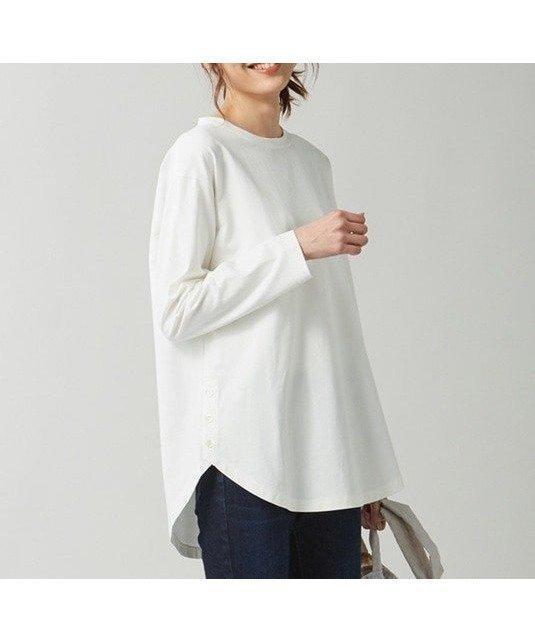 サイドのボタンがアクセント。旬なレイヤードスタイルに最適なラウンドヘムロングTシャツ おすすめで人気、流行・トレンド、ファッション通販商品 インテリア・家具・キッズファッション・メンズファッション・レディースファッション・服の通販 founy(ファニー) 【組曲/KUMIKYOKU】 トレンドファッション・スタイル  Fashion trends ブランド Brand ファッション Fashion レディースファッション WOMEN トップス カットソー Tops Tshirt プルオーバー Pullover カットソー Cut and Sewn カットソー スウェット スリット バランス ルーズ ロング 2021年 2021 S/S 春夏 SS Spring/Summer 2021 春夏 S/S SS Spring/Summer 2021 送料無料 Free Shipping |ID:prp329100001161144