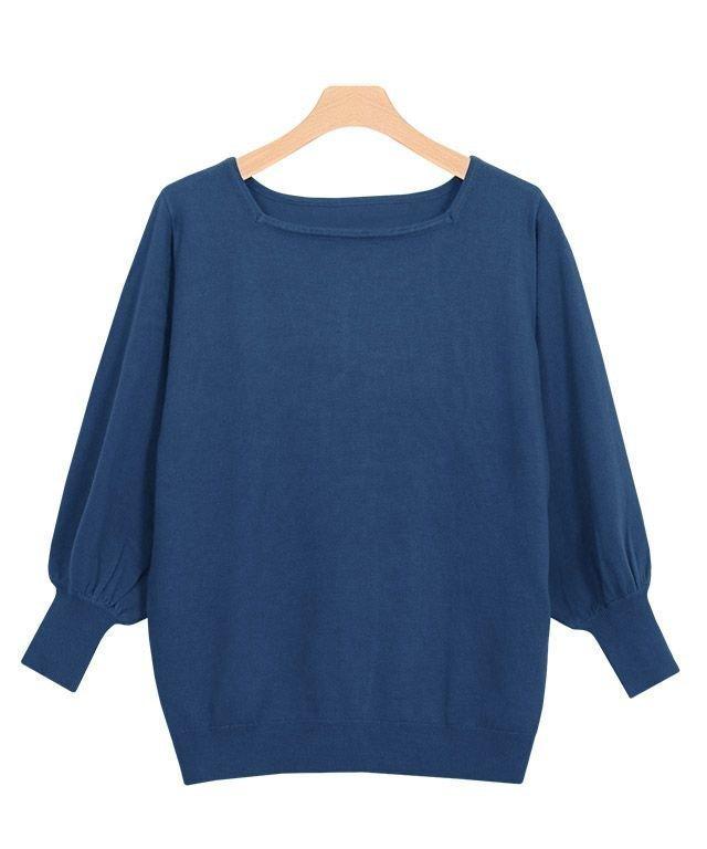 女性らしいシルエットも手軽さもシルクタッチニット レディースファッション・服の通販 founy(ファニー) 【ピエロ/Pierrot】 トレンドファッション・スタイル  Fashion Trends ブランド Brand ファッション Fashion レディースファッション WOMEN トップス・カットソー Tops/Tshirt ニット Knit Tops シルク シンプル スクエア スリーブ バルーン プチプライス・低価格 Affordable |ID:prp329100001119050
