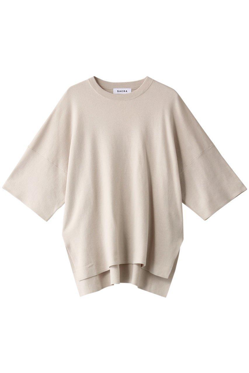 リラックスな着心地が愛用率を加速!柔らかな肌触りのコットン100%素材を使用した、抜群の着心地が自慢のニットプルオーバー 人気、トレンドファッション・服の通販 founy(ファニー) 【サクラ/SACRA】 トレンドファッション・スタイル  Fashion Trends ブランド Brand ファッション Fashion レディースファッション WOMEN トップス・カットソー Tops/Tshirt ニット Knit Tops プルオーバー Pullover おすすめ Recommend トレンド リラックス |ID:prp329100001117504