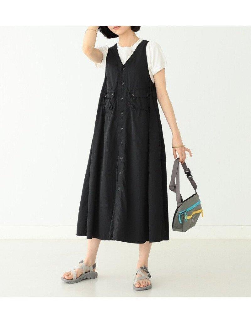 前後どちらも着用可能ライトでハリ感があるナイロン生地を使用した、ミリタリーモチーフのワンピース 人気、トレンドファッション・服の通販 founy(ファニー) 【ビームス ボーイ/BEAMS BOY】 トレンドファッション・スタイル  Fashion Trends ブランド Brand ファッション Fashion レディースファッション WOMEN ワンピース Dress NEW・新作・新着・新入荷 New Arrivals ノースリーブ フロント ベスト ミリタリー モチーフ ロング |ID:prp329100001595068