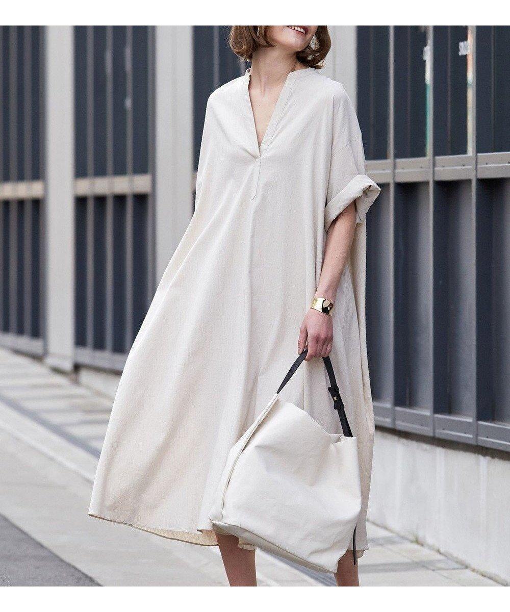 リラックス感溢れるボリュームシルエットが魅力、1枚でこなれ感のあるワンピース おすすめで人気、流行・トレンド、ファッション通販商品 インテリア・家具・キッズファッション・メンズファッション・レディースファッション・服の通販 founy(ファニー) 【ベイジ,/BEIGE,】 トレンドファッション・スタイル  Fashion Trends ブランド Brand ファッション Fashion レディースファッション WOMEN ワンピース Dress 送料無料 Free Shipping 2021年 2021 2021春夏・S/S SS/Spring/Summer/2021 S/S・春夏 SS・Spring/Summer リラックス 再入荷 Restock/Back in Stock/Re Arrival  ID:prp329100001298671