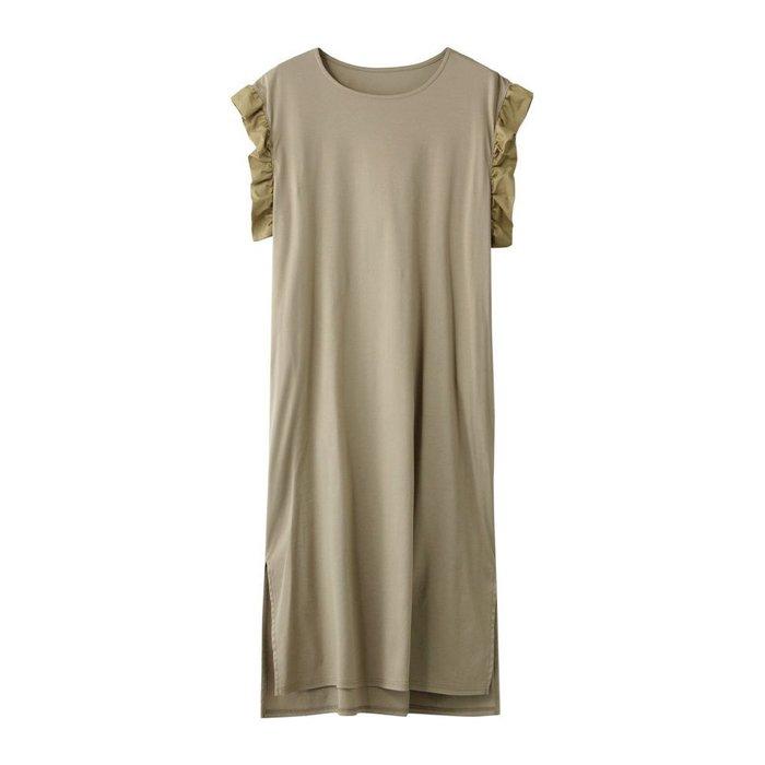 【ナナデコール / nanadecor】なめらかなカットソー素材を使用し、袖口に布帛のフリルをつけたエレガントなワンピースなど、おすすめ!注目の人気トレンドファッションアイテム 人気、トレンドファッション・服の通販 founy(ファニー) 【ナナデコール/nanadecor】 トレンドファッション・スタイル  Fashion Trends ブランド Brand ファッション Fashion レディースファッション WOMEN ワンピース Dress スカート Skirt パンツ Pants トップス・カットソー Tops/Tshirt シャツ/ブラウス Shirts/Blouses ロング / Tシャツ T-Shirts カットソー Cut and Sewn なめらか エレガント カットソー スリット フリル リラックス レギンス 再入荷 Restock/Back in Stock/Re Arrival キュロット ギャザー フェミニン フレア シンプル ワイド 定番 Standard スキニー リゾート リネン ロング |ID:stp329100000000197