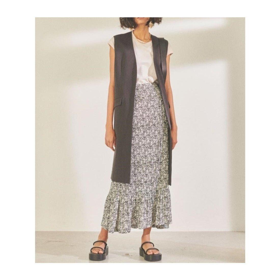 マジョリカプリーツ加工で華やかに、セットアップならオケージョンにもおすすめなマジョリカプリーツロングスカート 人気、トレンドファッション・服の通販 founy(ファニー) 【ミラオーウェン/Mila Owen】 トレンドファッション・スタイル  Fashion Trends ブランド Brand ファッション Fashion レディースファッション WOMEN スカート Skirt ロングスカート Long Skirt イエロー オケージョン 春 Spring シンプル ジョーゼット スマート セットアップ フレア プリーツ ロング 2021年 2021 S/S・春夏 SS・Spring/Summer 2021春夏・S/S SS/Spring/Summer/2021 夏 Summer |ID:prp329100001465260