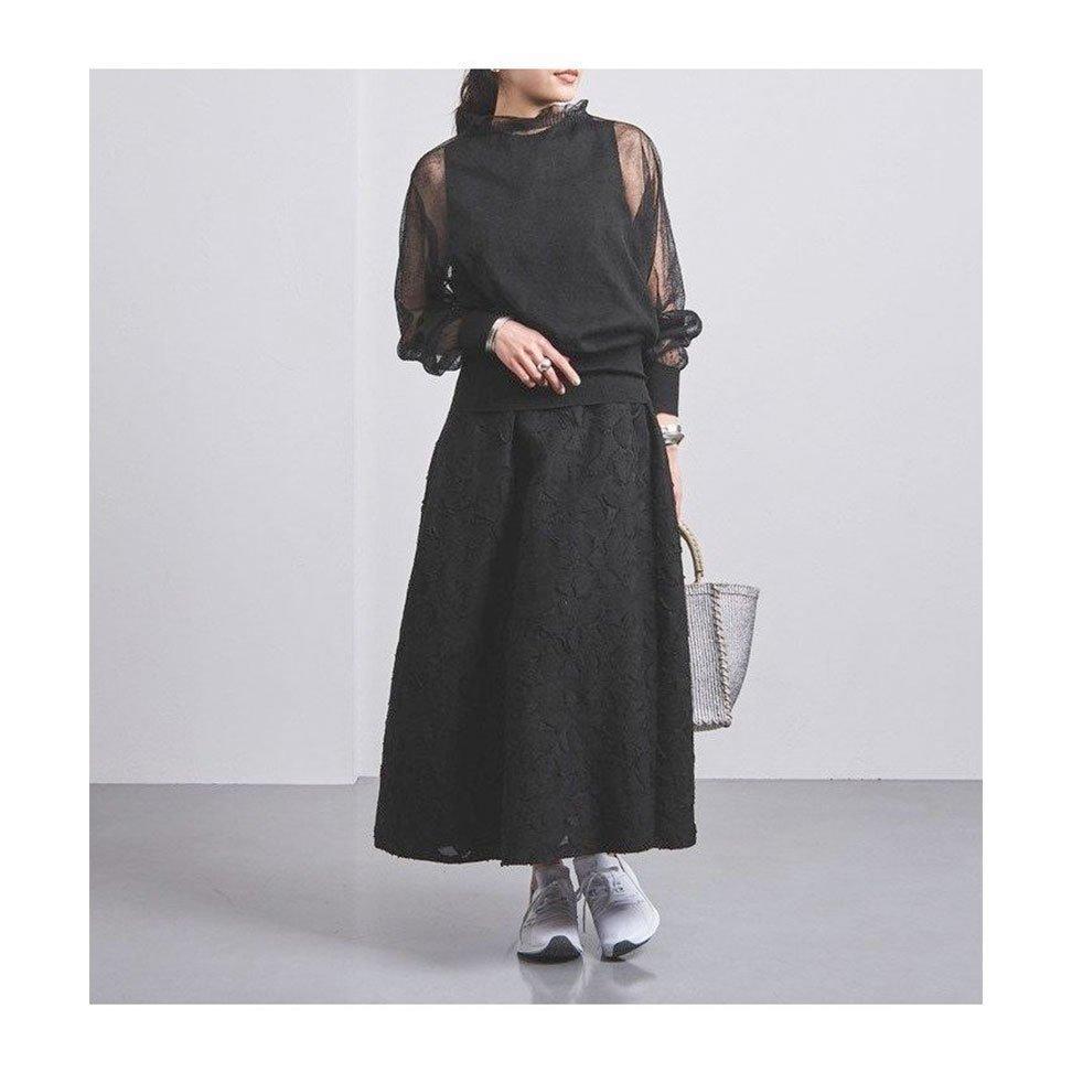 【ユナイテッドアローズ / UNITED ARROWS】華やかな素材感を生かしたフレアシルエットのロングワンピースなど、おすすめ!注目の人気トレンドファッションアイテム おすすめで人気の流行・トレンド、ファッションの通販商品 インテリア・家具・メンズファッション・キッズファッション・レディースファッション・服の通販 founy(ファニー) https://founy.com/ 【ユナイテッドアローズ/UNITED ARROWS】 トレンドファッション・スタイル  Fashion Trends ブランド Brand ファッション Fashion レディースファッション WOMEN ワンピース Dress トップス・カットソー Tops/Tshirt キャミソール / ノースリーブ No Sleeves シャツ/ブラウス Shirts/Blouses パンツ Pants キュプラ ジャカード センター ノースリーブ フレア ポケット ロング スタンド スリーブ フリル フロント ヨーク カシュクール ギンガム サッカー チェック フィット ドット プリント モノトーン スリム  ID:stp329100000000202