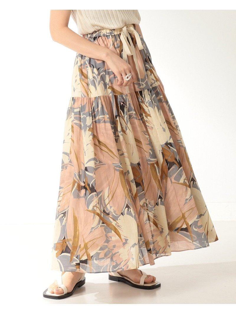 ギャザーをふんだんに入れたボリュームスカート おすすめで人気、流行・トレンド、ファッション通販商品 インテリア・家具・キッズファッション・メンズファッション・レディースファッション・服の通販 founy(ファニー) 【デミルクス ビームス/Demi-Luxe BEAMS】 トレンドファッション・スタイル  Fashion Trends ブランド Brand ファッション Fashion レディースファッション WOMEN スカート Skirt ティアードスカート Tiered Skirts ロングスカート Long Skirt おすすめ Recommend ギャザー シンプル ティアードスカート プリント ロング  ID:prp329100001517375