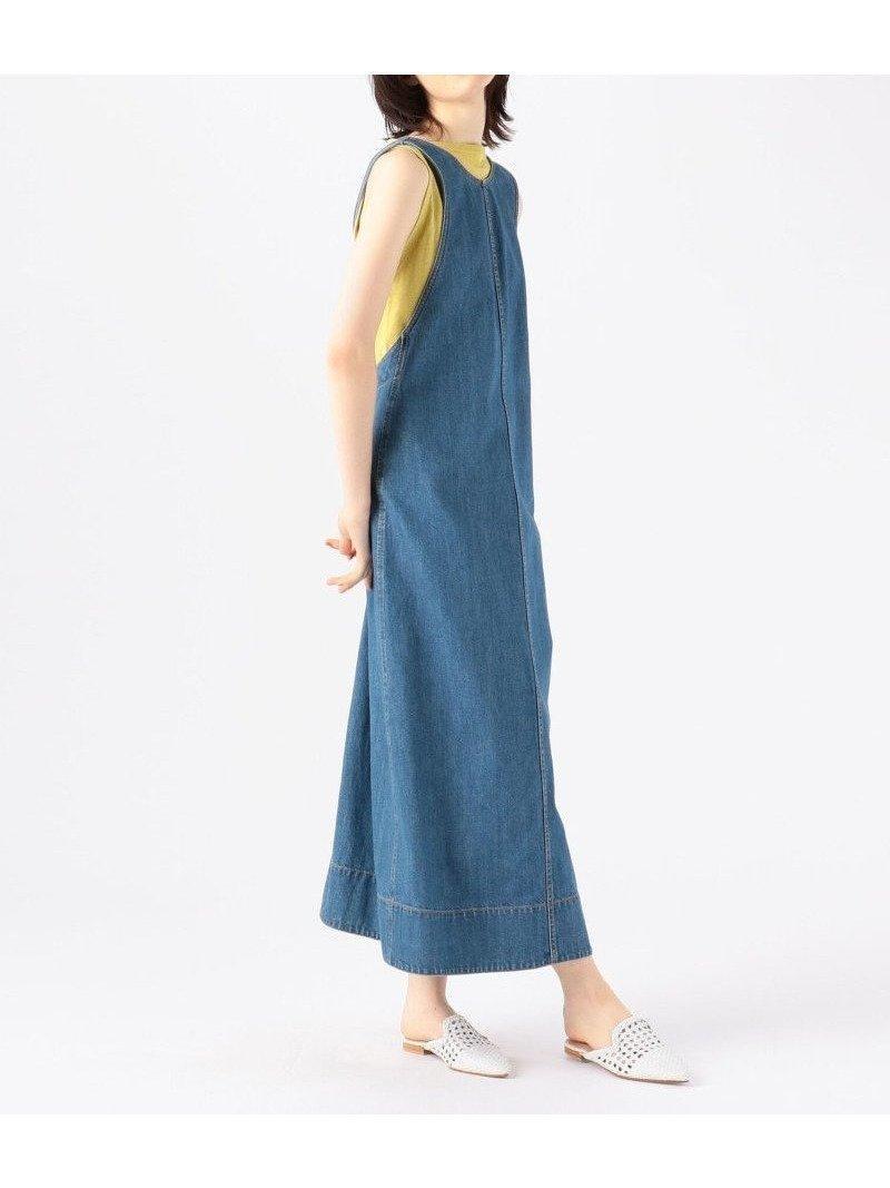 ワードローブに一つあるとスタイリングの幅を広げてくれるオーガニックコットンデニム ジャンパースカート おすすめで人気、流行・トレンド、ファッション通販商品 インテリア・家具・キッズファッション・メンズファッション・レディースファッション・服の通販 founy(ファニー) 【トゥモローランド マカフィー/TOMORROWLAND MACPHEE】 トレンドファッション・スタイル  Fashion Trends ブランド Brand ファッション Fashion レディースファッション WOMEN スカート Skirt 2021年 2021 2021春夏・S/S SS/Spring/Summer/2021 S/S・春夏 SS・Spring/Summer おすすめ Recommend アメリカン インナー ストレート スリット スリーブ デニム バランス ボーダー モダン  ID:prp329100001504816