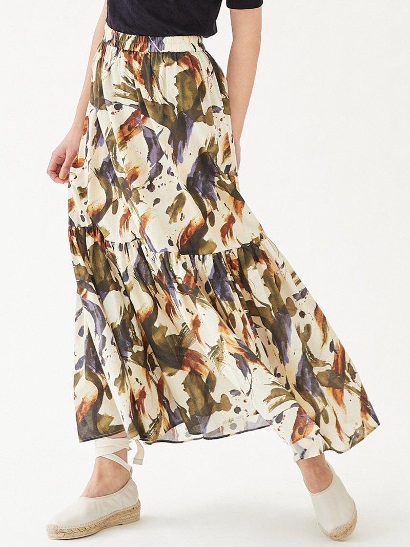 スタイリングにぐっと女性らしい雰囲気を演出してくれる華やかな表情のスカート おすすめで人気、流行・トレンド、ファッション通販商品 インテリア・家具・キッズファッション・メンズファッション・レディースファッション・服の通販 founy(ファニー) 【トゥモローランド マカフィー/TOMORROWLAND MACPHEE】 トレンドファッション・スタイル  Fashion Trends ブランド Brand ファッション Fashion レディースファッション WOMEN スカート Skirt ロングスカート Long Skirt 2021年 2021 2021春夏・S/S SS/Spring/Summer/2021 S/S・春夏 SS・Spring/Summer おすすめ Recommend カットソー ギャザー フェミニン プリント ロング 夏 Summer  ID:prp329100001650259