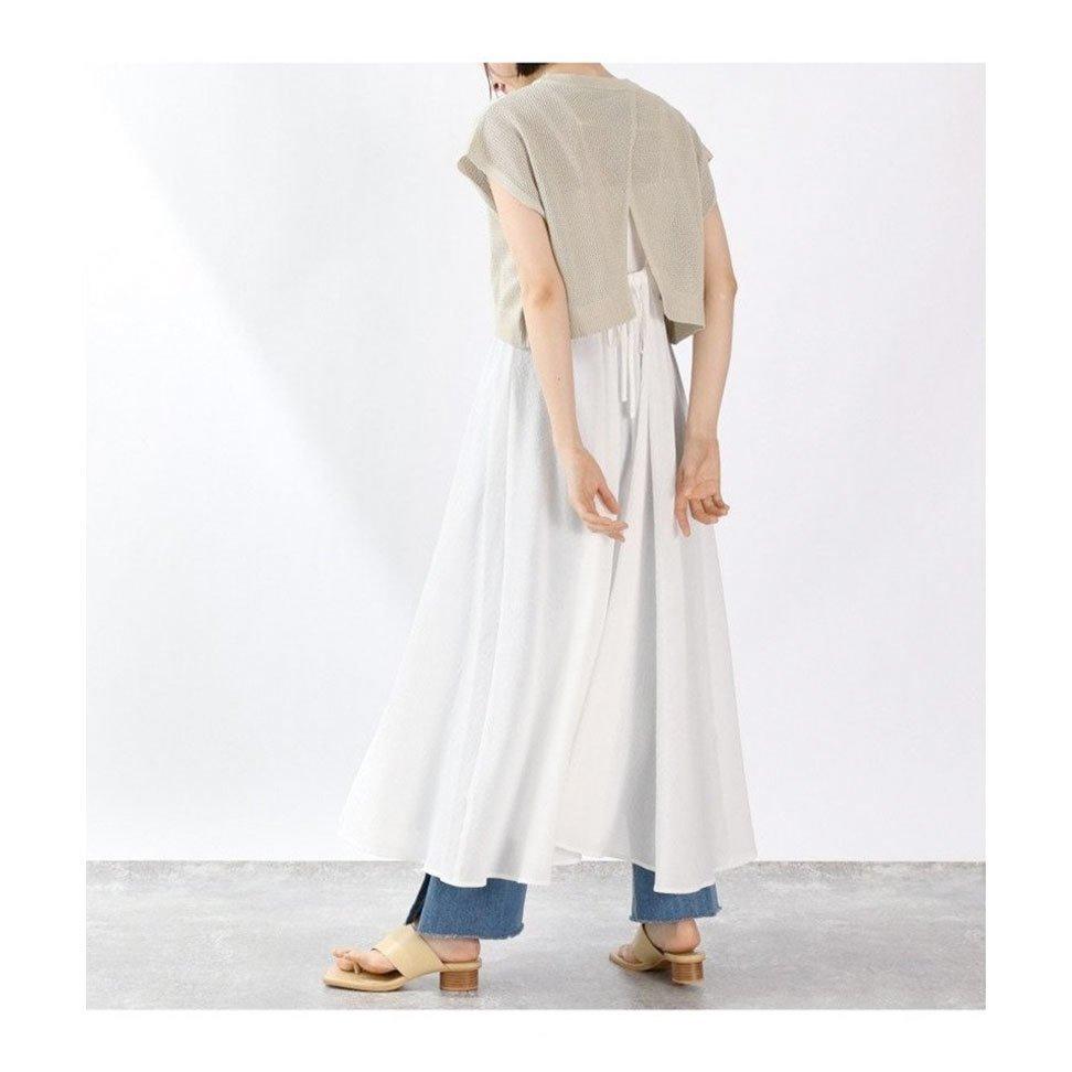 【ローリーズファーム / LOWRYS FARM】きれいめな表面感の素材と夏らしいカラーがポイントのAラインワンピースなど、おすすめ!注目の人気トレンドファッションアイテム  人気、トレンドファッション・服の通販 founy(ファニー) 【ローリーズファーム/LOWRYS FARM】 トレンドファッション・スタイル  Fashion Trends ブランド Brand ファッション Fashion レディースファッション WOMEN ワンピース Dress ニットワンピース Knit Dresses トップス・カットソー Tops/Tshirt カットソー Cut and Sewn スカート Skirt パンツ Pants キャミワンピース ショート スリット ノースリーブ リボン インナー カットソー スクエア タンク トレンド 再入荷 Restock/Back in Stock/Re Arrival おすすめ Recommend サンダル シンプル 切替 夏 Summer ストレート タイトスカート バランス プリーツ  ID:stp329100000000283