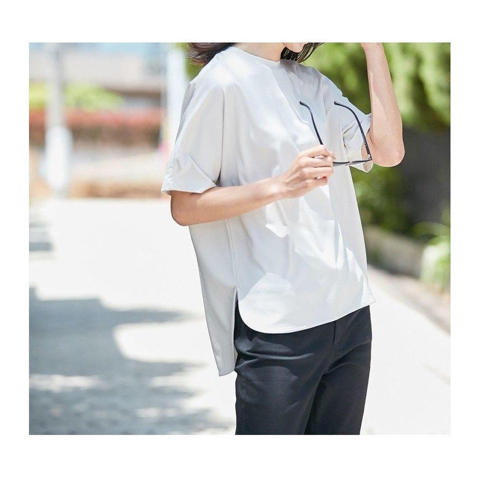 【自由区】こだわりぬいたフォルムで、美シルエット見え!マイビューティーTシャツなど、おすすめ!注目の人気トレンドファッションアイテム  人気、トレンドファッション・服の通販 founy(ファニー) 【自由区/JIYU-KU】 トレンドファッション・スタイル  Fashion Trends ブランド Brand ファッション Fashion レディースファッション WOMEN トップス・カットソー Tops/Tshirt シャツ/ブラウス Shirts/Blouses ロング / Tシャツ T-Shirts カットソー Cut and Sewn ワンピース Dress パンツ Pants プルオーバー Pullover 送料無料 Free Shipping カットソー ストレッチ デコルテ フォルム 夏 Summer 洗える コンパクト シンプル スポーツ フィット ポケット ランニング 再入荷 Restock/Back in Stock/Re Arrival コンシャス ジャージー スリット フェミニン ヴィンテージ |ID:stp329100000000284