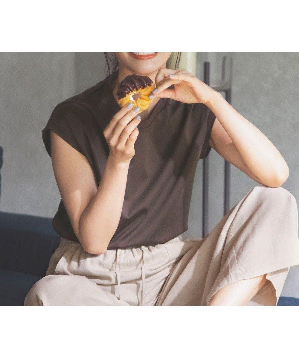 毎年大人気のベストセラー シルクのような肌触りで着回し抜群のプレミアムノースリーブTシャツ おすすめで人気、流行・トレンド、ファッション通販商品 インテリア・家具・キッズファッション・メンズファッション・レディースファッション・服の通販 founy(ファニー) 【エニィファム/any FAM】 トレンドファッション・スタイル  Fashion Trends ブランド Brand ファッションモデル・俳優・女優 Models 女性 Women 優木まおみ Yuki Maomi ファッション Fashion レディースファッション WOMEN トップス・カットソー Tops/Tshirt キャミソール / ノースリーブ No Sleeves シャツ/ブラウス Shirts/Blouses ロング / Tシャツ T-Shirts カットソー Cut and Sewn インナー カットソー 今季 シルク 定番 Standard ノースリーブ プリント プレミアム ベーシック 再入荷 Restock/Back in Stock/Re Arrival 送料無料 Free Shipping おすすめ Recommend 夏 Summer |ID:prp329100001380648