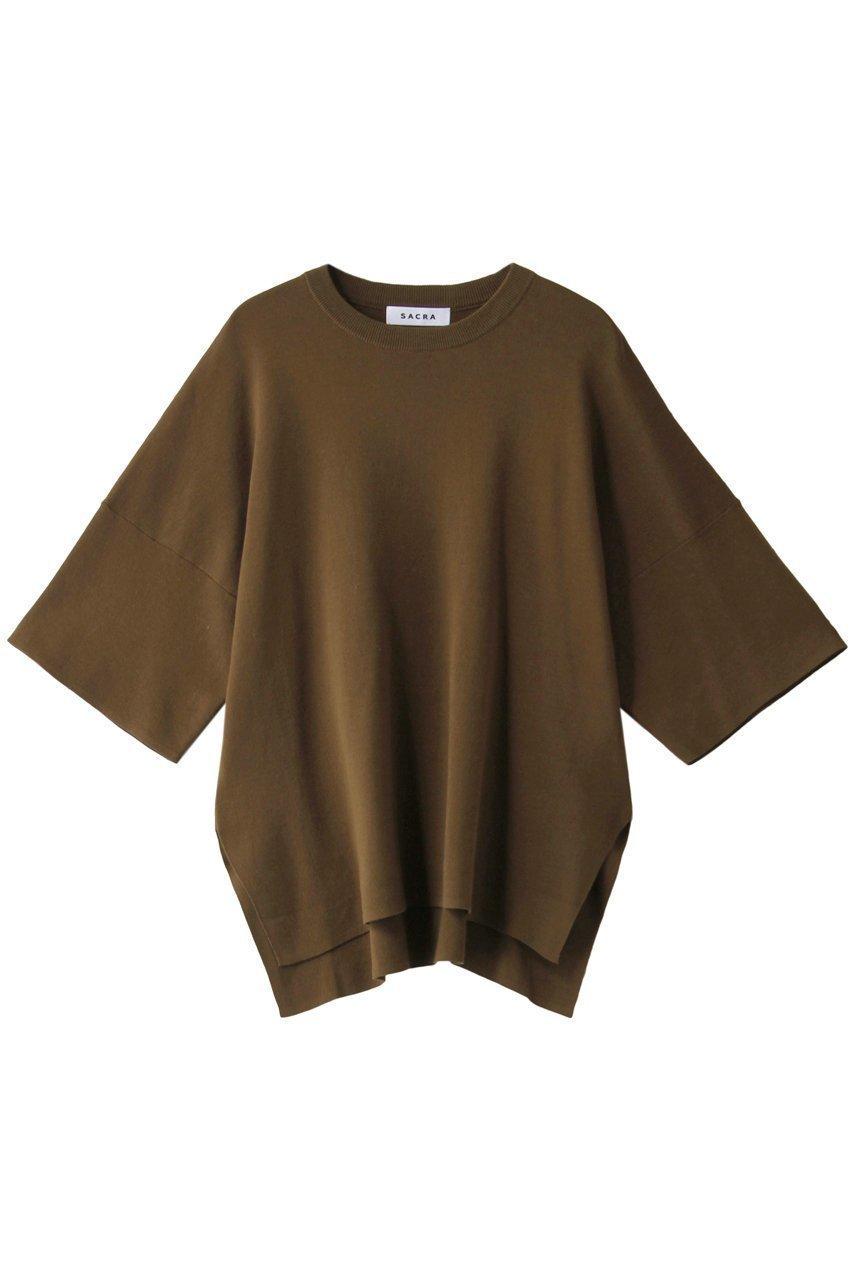 柔らかな肌触りのコットン100%素材を使用した、抜群の着心地が自慢のニットプルオーバー おすすめで人気、流行・トレンド、ファッション通販商品 インテリア・家具・キッズファッション・メンズファッション・レディースファッション・服の通販 founy(ファニー) 【サクラ/SACRA】 トレンドファッション・スタイル  Fashion Trends ブランド Brand ファッション Fashion レディースファッション WOMEN トップス・カットソー Tops/Tshirt ニット Knit Tops プルオーバー Pullover おすすめ Recommend トレンド リラックス  ID:prp329100001117504