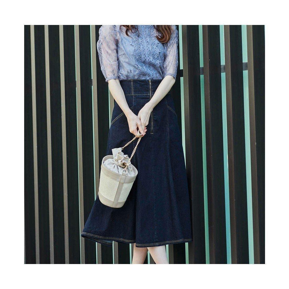 緩やかなマーメイドラインが、カジュアルなデニムを上品で女性らしい印象に見せてくれるスカート おすすめで人気、流行・トレンド、ファッション通販商品 インテリア・家具・キッズファッション・メンズファッション・レディースファッション・服の通販 founy(ファニー) 【ノエラ/Noela】 トレンドファッション・スタイル  Fashion Trends ブランド Brand ファッション Fashion レディースファッション WOMEN スカート Skirt デニムスカート Denim Skirts 2021年 2021 2021春夏・S/S SS/Spring/Summer/2021 S/S・春夏 SS・Spring/Summer おすすめ Recommend ダウン デニム マーメイド 夏 Summer 春 Spring |ID:prp329100001611653