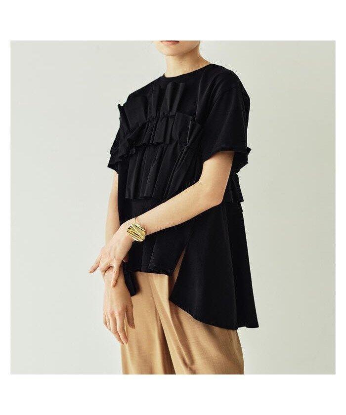 こなれたルックスに シンプルなカット生地に、立体的なフリルをあしらった高感度な Tシャツ おすすめで人気、流行・トレンド、ファッション通販商品 インテリア・家具・キッズファッション・メンズファッション・レディースファッション・服の通販 founy(ファニー) 【レイ ビームス/Ray BEAMS】 トレンドファッション・スタイル  Fashion Trends ブランド Brand ファッション Fashion レディースファッション WOMEN トップス・カットソー Tops/Tshirt シャツ/ブラウス Shirts/Blouses ロング / Tシャツ T-Shirts カットソー Cut and Sewn シンプル スラックス スリーブ ハーフ フェミニン フリル フレア 再入荷 Restock/Back in Stock/Re Arrival |ID:prp329100001494978