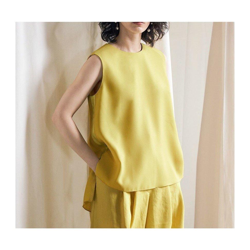 【アイシービー / iCB】リッチな表情でも嬉しいイージーケア! オンオフ着回し優秀なノースリーブブラウスなど、おすすめ!注目の人気トレンドファッションアイテム おすすめで人気の流行・トレンド、ファッションの通販商品 インテリア・家具・メンズファッション・キッズファッション・レディースファッション・服の通販 founy(ファニー) https://founy.com/ 【アイシービー/iCB】 トレンドファッション・スタイル  Fashion Trends ブランド Brand ファッション Fashion レディースファッション WOMEN トップス・カットソー Tops/Tshirt キャミソール / ノースリーブ No Sleeves シャツ/ブラウス Shirts/Blouses ワンピース Dress カーディガン Cardigans パンツ Pants スカート Skirt アウター Coat Outerwear ジャケット Jackets ノーカラージャケット No Collar Leather Jackets イエロー 洗える サテン スタイリッシュ セットアップ 雑誌 なめらか ノースリーブ 2021年 2021 S/S・春夏 SS・Spring/Summer 2021春夏・S/S SS/Spring/Summer/2021 送料無料 Free Shipping 春 Spring 秋 Autumn/Fall カーディガン ショート  ID:stp329100000000354