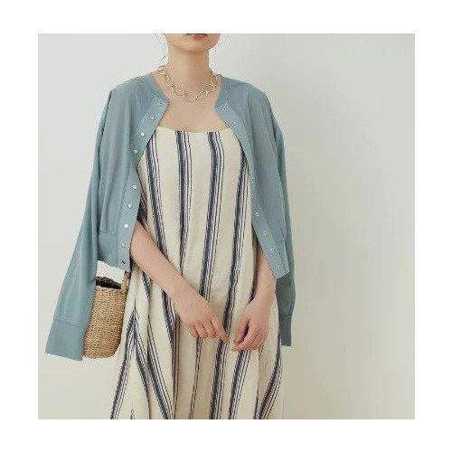 冷房対策や、日差し避けにも◎絶妙なサイジングとドットボタンが魅力の万能カーディガン おすすめで人気、流行・トレンド、ファッション通販商品 インテリア・家具・キッズファッション・メンズファッション・レディースファッション・服の通販 founy(ファニー) 【アダム エ ロペ/ADAM ET ROPE'】 トレンドファッション・スタイル  Fashion Trends ブランド Brand ファッション Fashion レディースファッション WOMEN トップス・カットソー Tops/Tshirt カーディガン Cardigans インナー 春 Spring カーディガン シアー シルバー ドット 人気 フォルム フロント ベーシック ボトム ポケット ワンポイント 2021年 2021 S/S・春夏 SS・Spring/Summer 2021春夏・S/S SS/Spring/Summer/2021 おすすめ Recommend 夏 Summer |ID:prp329100001574259