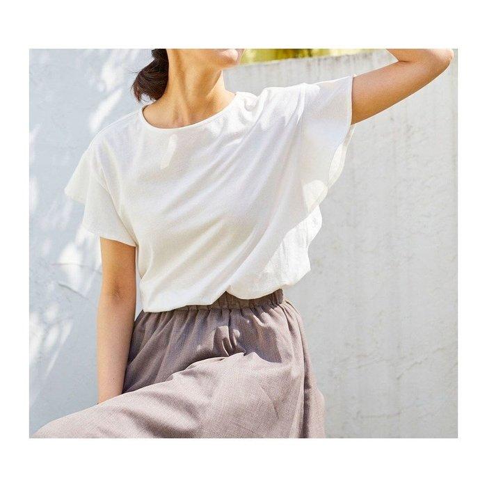 【エニィファム / any FAM】Tシャツ感覚で着られてブラウスのような女らしさが叶う、定番人気のTブラウスなど、おすすめ!注目の人気トレンドファッションアイテム 人気、トレンドファッション・服の通販 founy(ファニー) 【エニィファム/any FAM】 トレンドファッション・スタイル  Fashion Trends ブランド Brand ファッションモデル・俳優・女優 Models 女性 Women 優木まおみ Yuki Maomi ファッション Fashion レディースファッション WOMEN トップス・カットソー Tops/Tshirt シャツ/ブラウス Shirts/Blouses ロング / Tシャツ T-Shirts カットソー Cut and Sewn パンツ Pants スカート Skirt カットソー 定番 Standard 人気 フレア 再入荷 Restock/Back in Stock/Re Arrival 送料無料 Free Shipping お家時間・ステイホーム Home Time/Stay Home コンパクト シルケット スリーブ ミックス リネン リラックス ワイド 吸水 インナー 春 Spring |ID:stp329100000000383