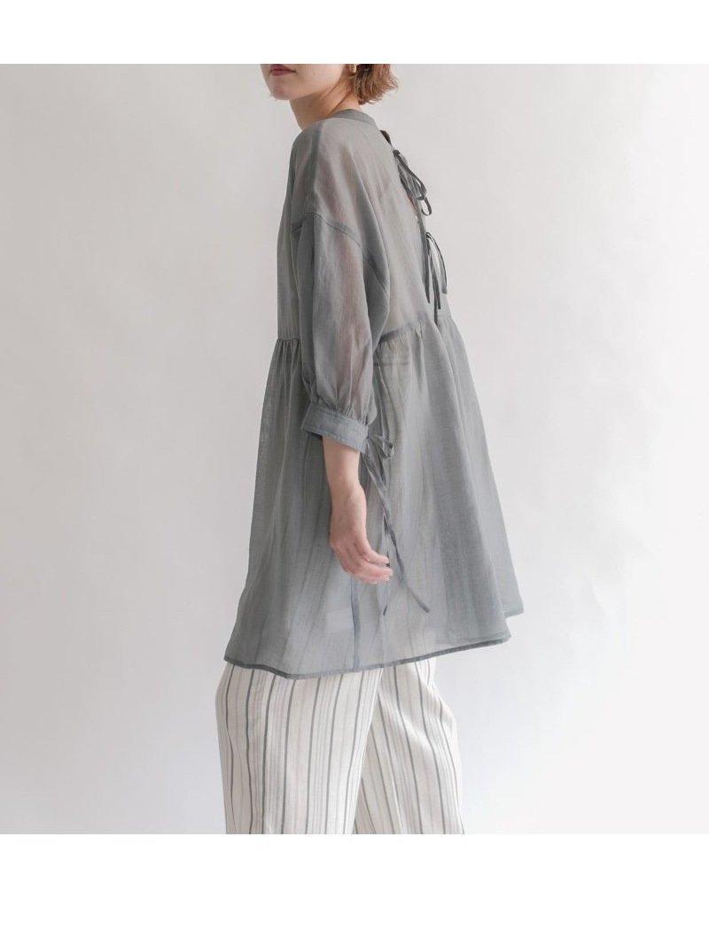 抜け感のあるコーディネートを完成させるシアーブラウス 人気、トレンドファッション・服の通販 founy(ファニー) 【ケービーエフ/KBF / URBAN RESEARCH】 トレンドファッション・スタイル  Fashion Trends ブランド Brand ファッション Fashion レディースファッション WOMEN トップス・カットソー Tops/Tshirt シャツ/ブラウス Shirts/Blouses おすすめ Recommend ギャザー シアー チュニック デニム リボン ワイド 再入荷 Restock/Back in Stock/Re Arrival  ID:prp329100001826659
