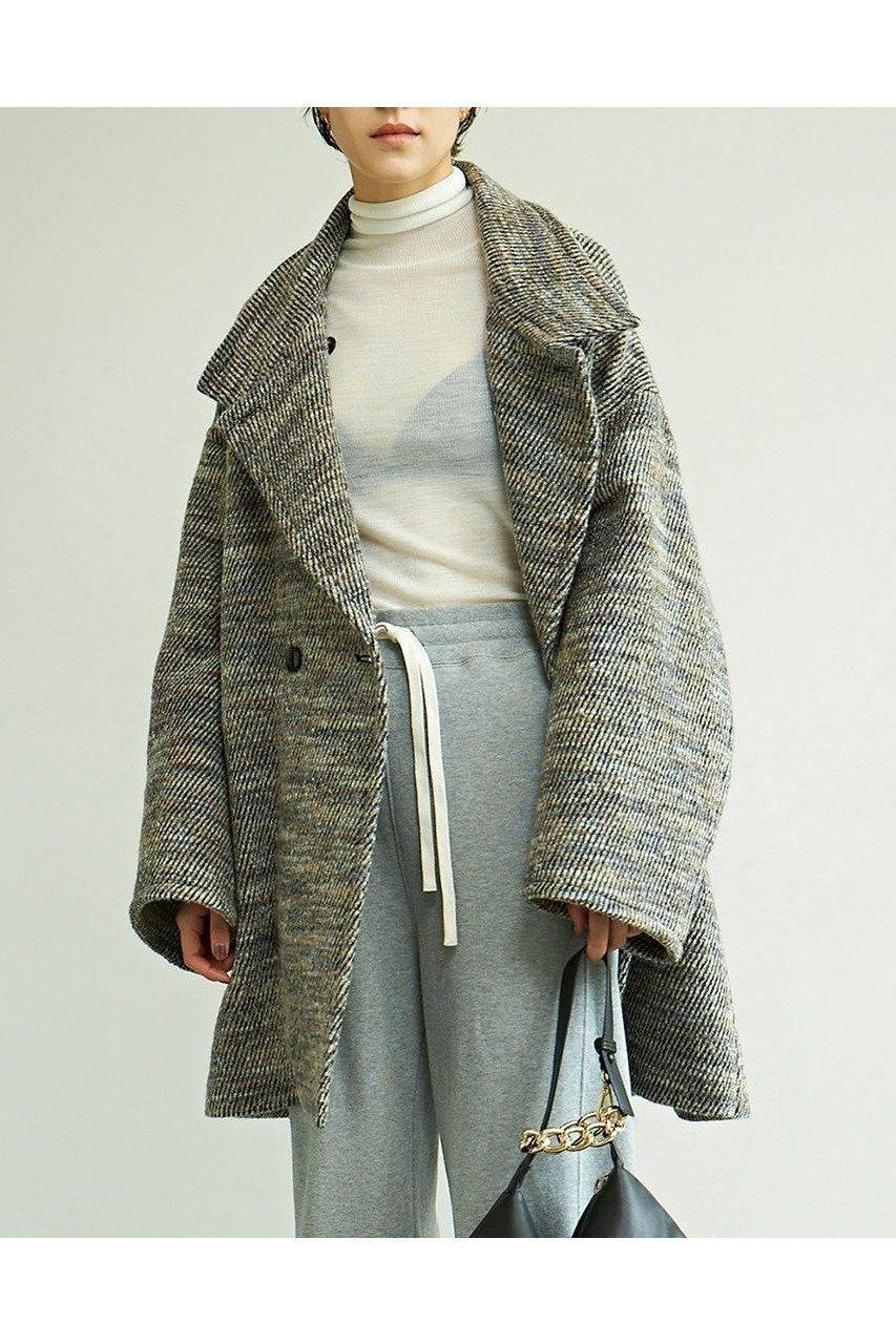 大人の品格漂う、エレガントなツイードコート 人気、トレンドファッション・服の通販 founy(ファニー) 【ガリャルダガランテ/GALLARDAGALANTE】 トレンドファッション・スタイル  Fashion Trends ブランド Brand ファッション Fashion レディースファッション WOMEN アウター Coat Outerwear コート Coats 2020年 2020 2020-2021秋冬・A/W AW・Autumn/Winter・FW・Fall-Winter/2020-2021 2021年 2021 2021-2022秋冬・A/W AW・Autumn/Winter・FW・Fall-Winter・2021-2022 A/W・秋冬 AW・Autumn/Winter・FW・Fall-Winter イタリア エレガント スウェット スタンド ツイード ミドル ロング 人気 再入荷 Restock/Back in Stock/Re Arrival |ID:prp329100001795351