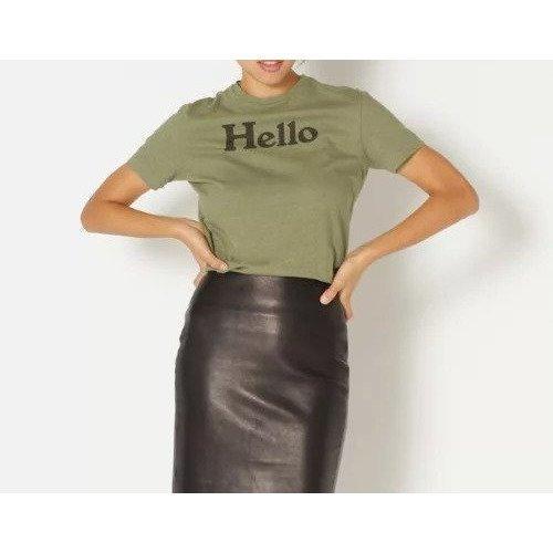 ヴィンテージライクなコットン天竺を使用したプリントTシャツ、HELLO TEE おすすめで人気、流行・トレンド、ファッション通販商品 インテリア・家具・キッズファッション・メンズファッション・レディースファッション・服の通販 founy(ファニー) 【マディソンブルー/MADISONBLUE】 トレンドファッション・スタイル  Fashion Trends ブランド Brand ファッション Fashion レディースファッション WOMEN トップス・カットソー Tops/Tshirt シャツ/ブラウス Shirts/Blouses ロング / Tシャツ T-Shirts カットソー Cut and Sewn インナー カットソー ジャケット プリント 半袖 |ID:prp329100000022422