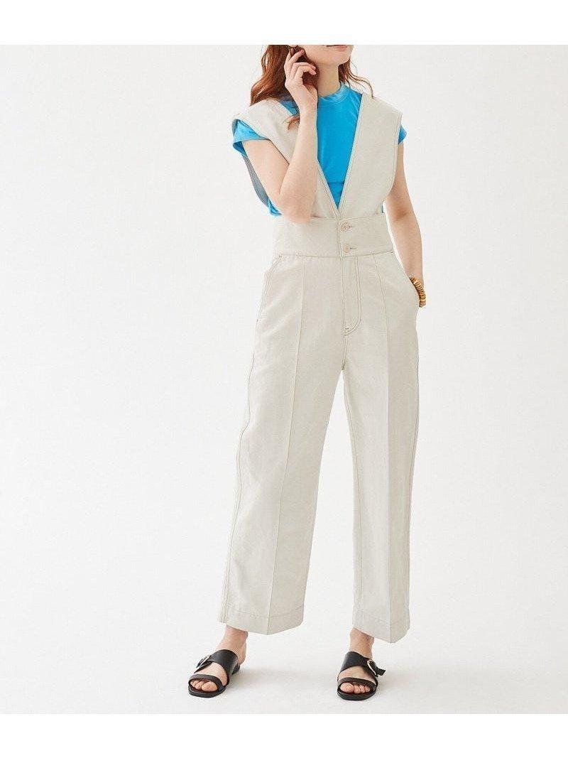 リネン混ならではのさらりとしたタッチとソフトかつクリーンなカラーが魅力のコンビネゾン 人気、トレンドファッション・服の通販 founy(ファニー) 【トゥモローランド マカフィー/TOMORROWLAND MACPHEE】 トレンドファッション・スタイル  Fashion Trends ブランド Brand ファッション Fashion レディースファッション WOMEN 2021年 2021 2021春夏・S/S SS/Spring/Summer/2021 S/S・春夏 SS・Spring/Summer おすすめ Recommend カットソー コンビネゾン サロペット シンプル ジーンズ ラップ リネン  ID:prp329100001170281