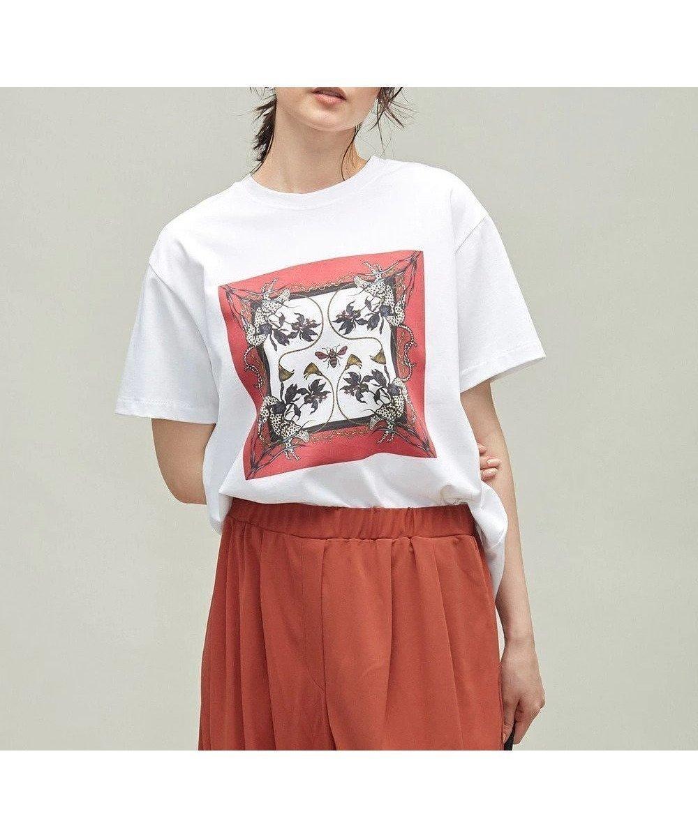グラフィックアーティストのMIHO MURAKAMIさんとのコラボレーション 人気、トレンドファッション・服の通販 founy(ファニー) 【アイシービー/iCB】 トレンドファッション・スタイル  Fashion Trends ブランド Brand ファッション Fashion レディースファッション WOMEN トップス・カットソー Tops/Tshirt シャツ/ブラウス Shirts/Blouses ロング / Tシャツ T-Shirts カットソー Cut and Sewn カットソー グラフィック コラボ コレクション シンプル スカーフ スキニー フォルム フラット プリント モチーフ リラックス ワイド ワンポイント A/W・秋冬 AW・Autumn/Winter・FW・Fall-Winter 2021年 2021 再入荷 Restock/Back in Stock/Re Arrival 2021-2022秋冬・A/W AW・Autumn/Winter・FW・Fall-Winter・2021-2022 送料無料 Free Shipping おすすめ Recommend |ID:prp329100001801016