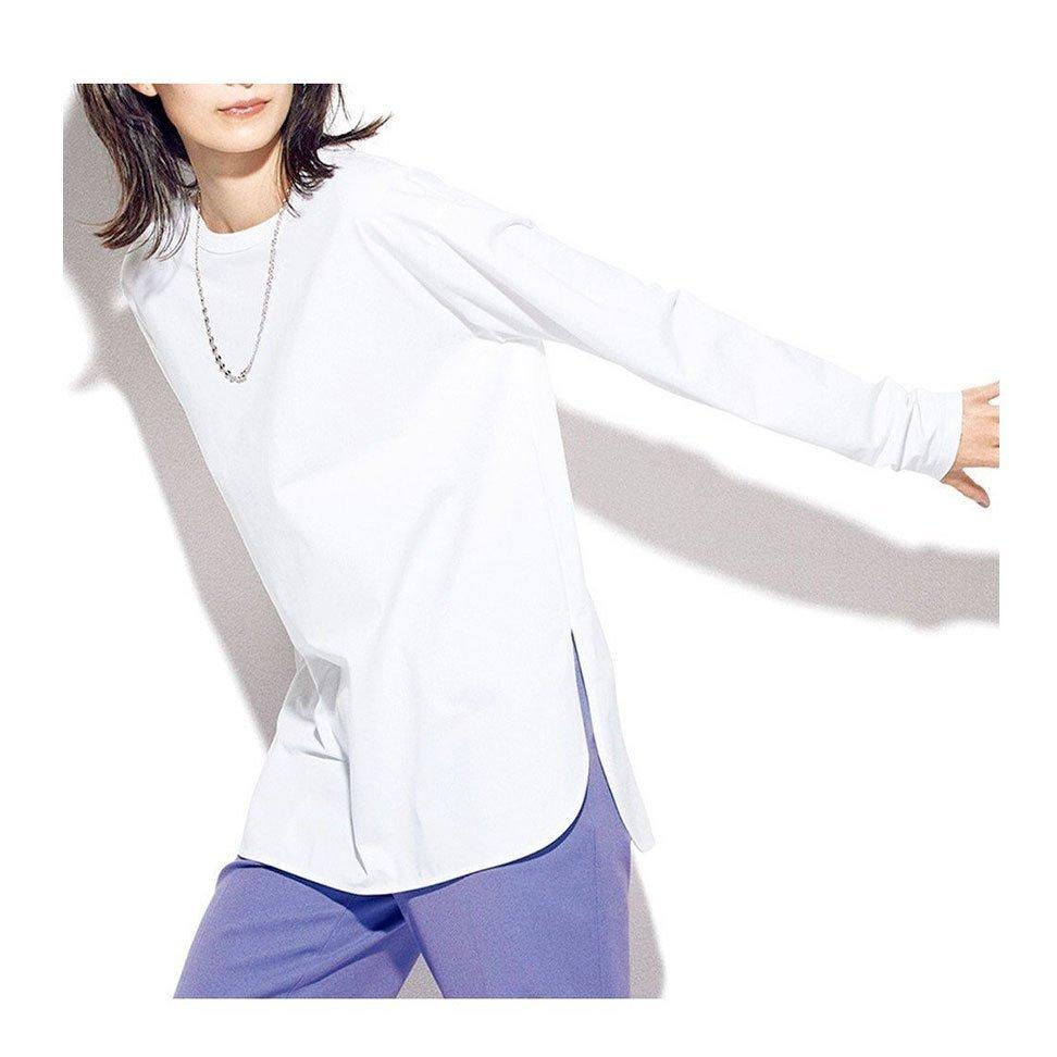 【23区】シャツのようにレイヤードが楽しめる、快適な着心地の万能カットソーなど、おすすめ!注目の人気トレンドファッションアイテム  人気、トレンドファッション・服の通販 founy(ファニー) 【23区/NIJYUSANKU】 トレンドファッション・スタイル  Fashion Trends ブランド Brand ファッションモデル・俳優・女優 Models 女性 Women 中村アン Nakamura Anne ファッション Fashion レディースファッション WOMEN トップス・カットソー Tops/Tshirt シャツ/ブラウス Shirts/Blouses ロング / Tシャツ T-Shirts カットソー Cut and Sewn ニット Knit Tops パンツ Pants デニムパンツ Denim Pants インナー 秋 Autumn/Fall カットソー カーディガン ストレッチ スリット なめらか ベーシック 無地 ロング A/W・秋冬 AW・Autumn/Winter・FW・Fall-Winter 2021年 2021 2021-2022秋冬・A/W AW・Autumn/Winter・FW・Fall-Winter・2021-2022 送料無料 Free Shipping くるぶし ショート |ID:stp329100000000557