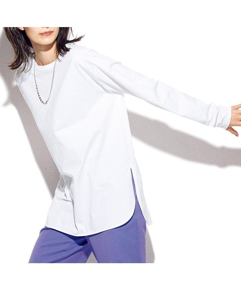 シャツのようにレイヤードが楽しめる、快適な着心地の万能カットソー 人気、トレンドファッション・服の通販 founy(ファニー) 【23区/NIJYUSANKU】 トレンドファッション・スタイル  Fashion Trends ブランド Brand ファッションモデル・俳優・女優 Models 女性 Women 中村アン Nakamura Anne ファッション Fashion レディースファッション WOMEN トップス・カットソー Tops/Tshirt シャツ/ブラウス Shirts/Blouses ロング / Tシャツ T-Shirts カットソー Cut and Sewn インナー 秋 Autumn/Fall カットソー カーディガン ストレッチ スリット なめらか ベーシック 無地 ロング A/W・秋冬 AW・Autumn/Winter・FW・Fall-Winter 2021年 2021 2021-2022秋冬・A/W AW・Autumn/Winter・FW・Fall-Winter・2021-2022 送料無料 Free Shipping |ID:prp329100001912475