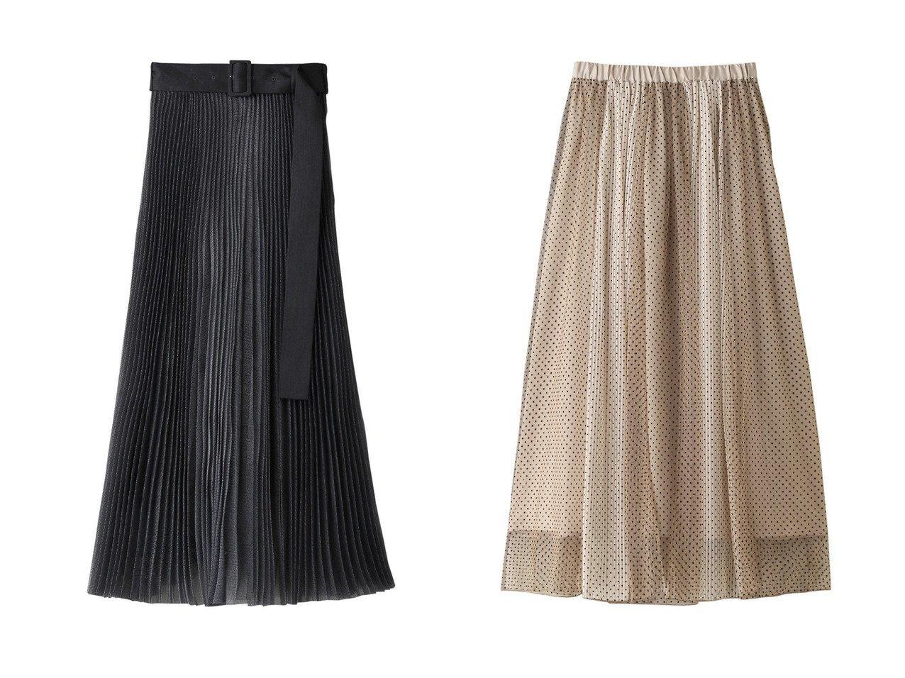【The Virgnia/ザ ヴァージニア】のフロッキードットストライプチュールスカート&【LE PHIL/ル フィル】のドッキングプリーツスカート スカートのおすすめ!人気、レディースファッションの通販 おすすめで人気のファッション通販商品 インテリア・家具・キッズファッション・メンズファッション・レディースファッション・服の通販 founy(ファニー) https://founy.com/ ファッション Fashion レディース WOMEN スカート Skirt プリーツスカート Pleated Skirts ロングスカート Long Skirt オーガンジー シンプル プリーツ ロング |ID:crp329100000000053