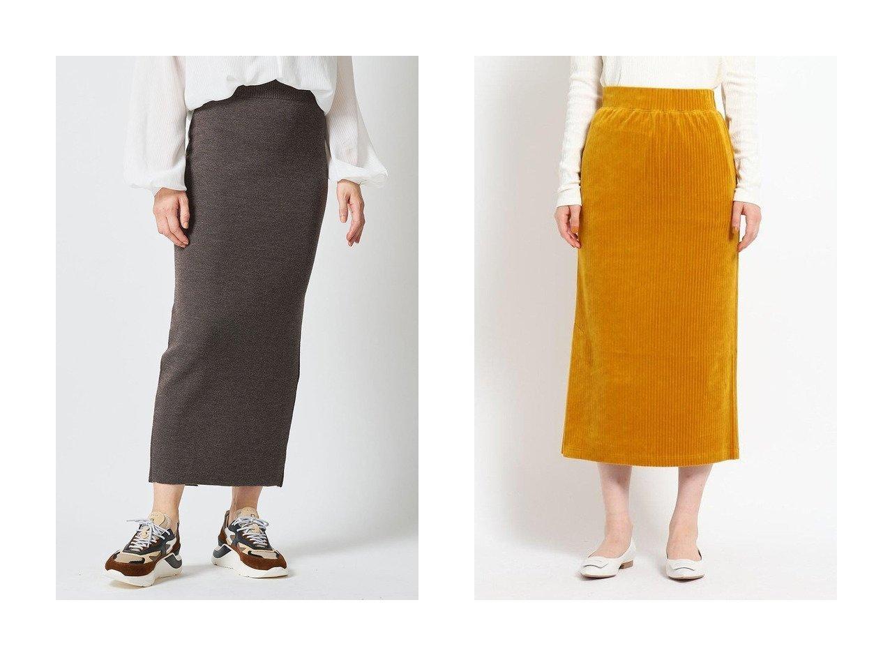 【JET/ジェット】の【JET LOSANGELES】【ウォッシャブル】コーデュロイストレートスカート&【Whim Gazette/ウィムガゼット】のミラノタイトスカート スカートのおすすめ!人気、レディースファッションの通販 おすすめで人気のファッション通販商品 インテリア・家具・キッズファッション・メンズファッション・レディースファッション・服の通販 founy(ファニー) https://founy.com/ ファッション Fashion レディース WOMEN スカート Skirt ロングスカート Long Skirt スリット タイトスカート ロング |ID:crp329100000000058