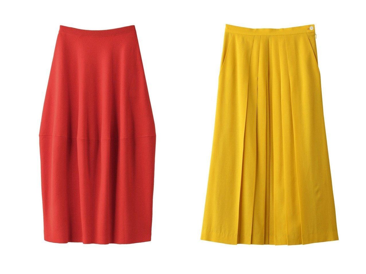 【ENFOLD/エンフォルド】のCASH TOUCH ニットコクーンスカート&【PLAIN PEOPLE/プレインピープル】のウールタックプリーツスカート スカートのおすすめ!人気、レディースファッションの通販 おすすめで人気のファッション通販商品 インテリア・家具・キッズファッション・メンズファッション・レディースファッション・服の通販 founy(ファニー) https://founy.com/ ファッション Fashion レディース WOMEN スカート Skirt ロングスカート Long Skirt プリーツスカート Pleated Skirts シンプル セットアップ ロング |ID:crp329100000000061